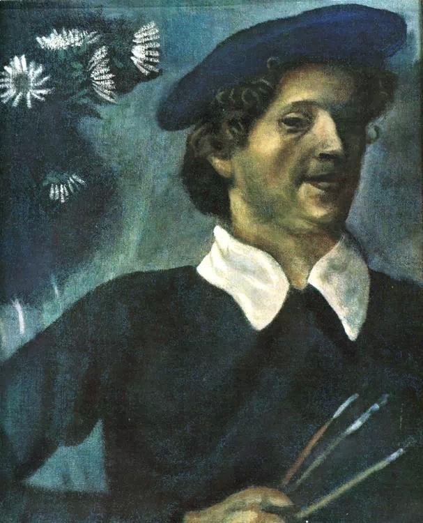 Marc Chagall. Self-portrait with brushes