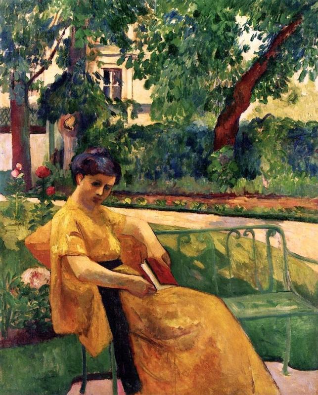 Анри Шарль Манген. Жанна в желтом платье, Нёйи