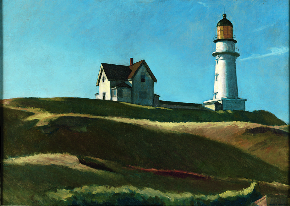 Edward Hopper. The hill with the lighthouse