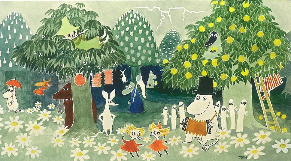 Tove Jansson. Cover for the book by T. Jansson about the Moomin