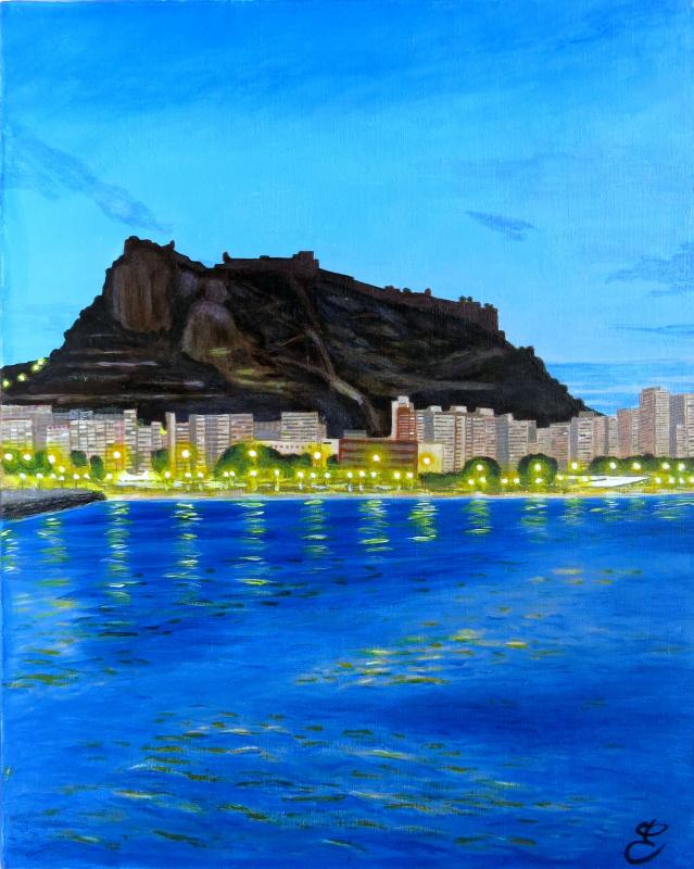 """Дмитрий Еременко. View of the fortress """"Santa Barbara"""". Alicante, Spain"""