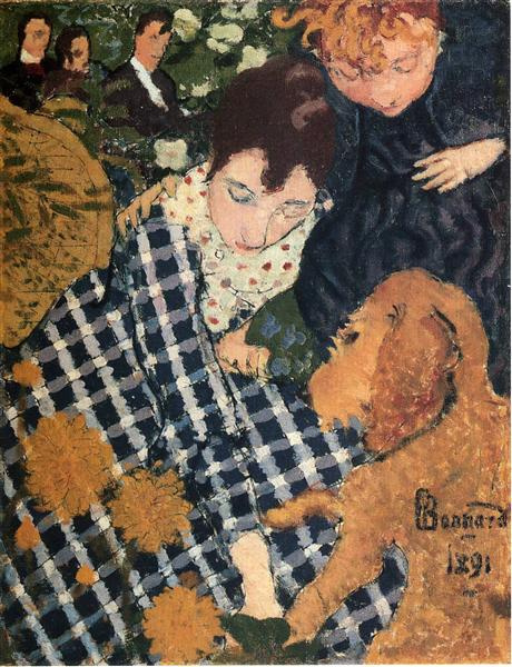Pierre Bonnard. Woman and dog