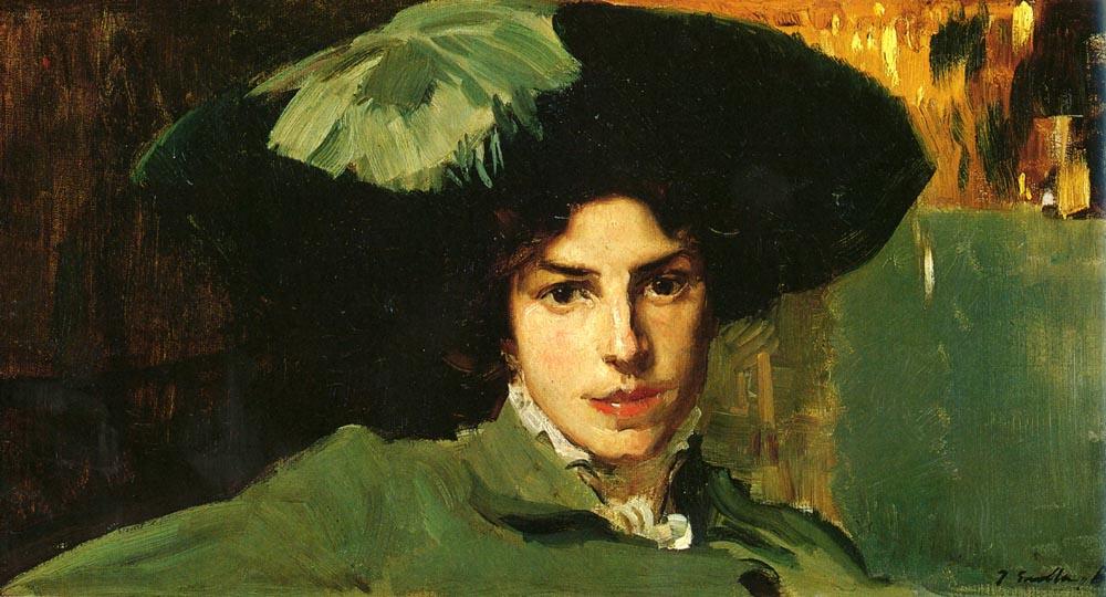 Joaquin Sorolla (Soroya). Maria in the hat