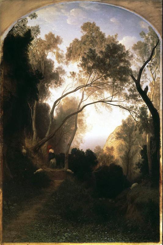 Антонио Фонтанези. Горная тропа