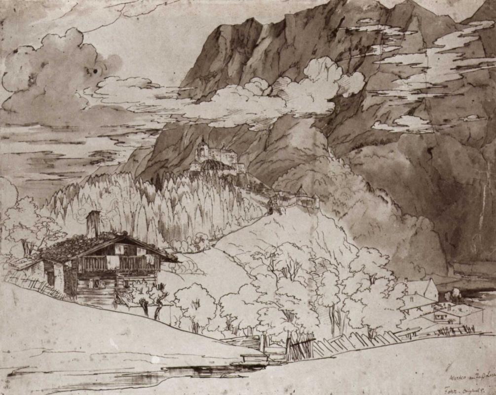 Карл Филипп Фор. Мостки на перевале Лёйг