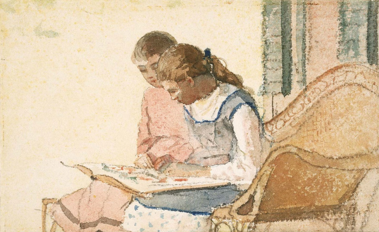 Winslow Homer. Two girls with a book