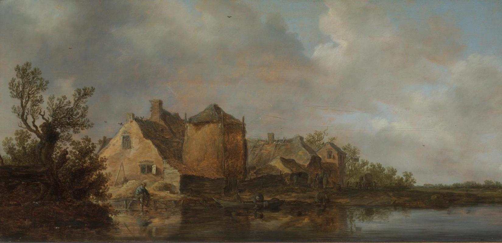 Jan van Goyen. The hotel is on a river