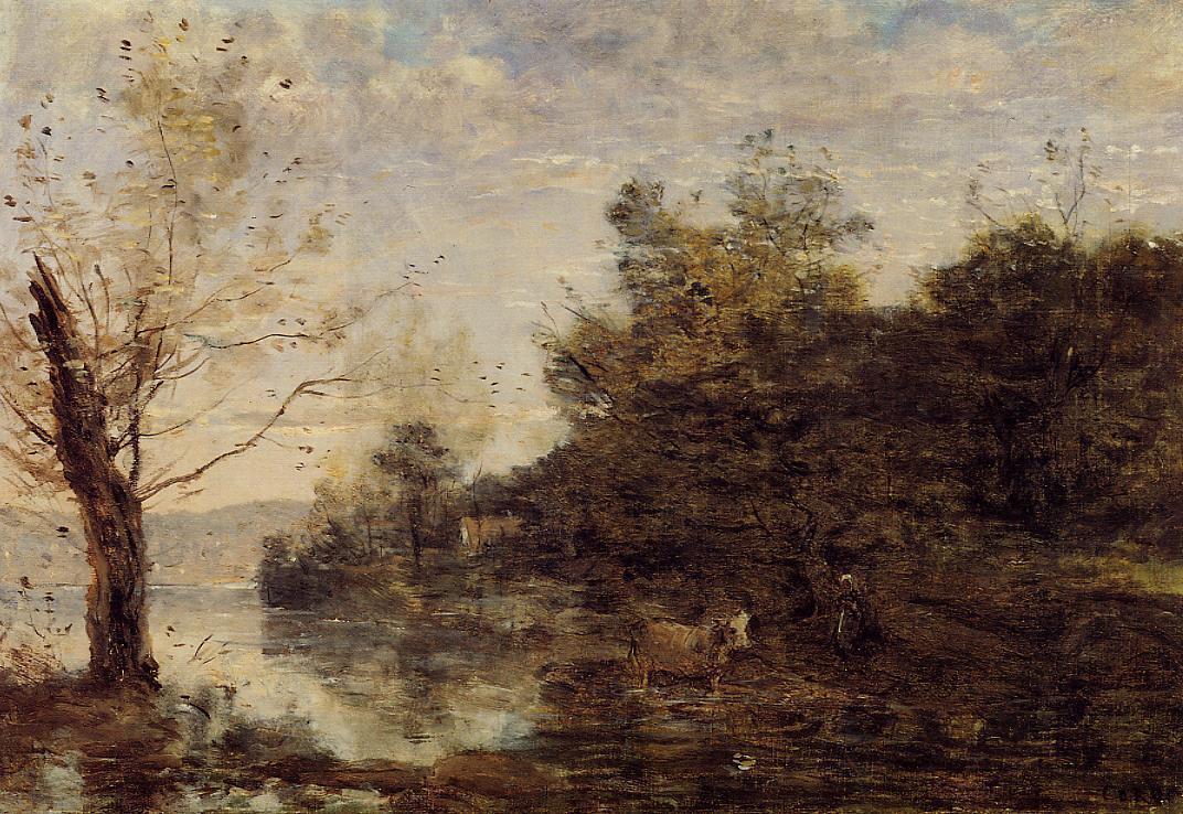 Камиль Коро. Пастух на воде