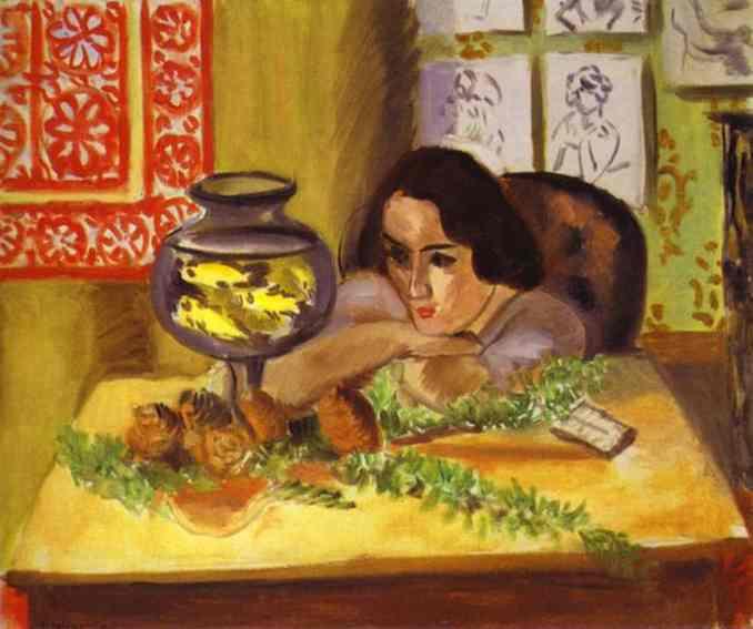 Анри Матисс. Женщина с аквариумом