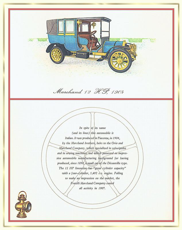Лионель Моррис. Серия ретро-автомобили. 1904 Маршан