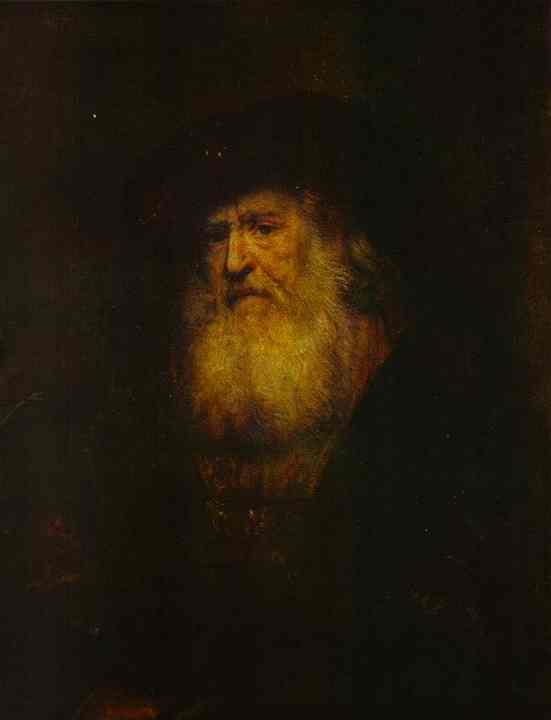 Rembrandt Harmenszoon van Rijn. Portrait of a bearded man in black beret