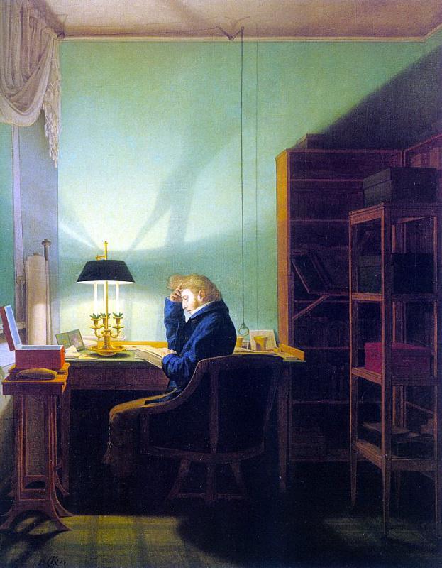 Георг Фридрих Керстинг. Чтение