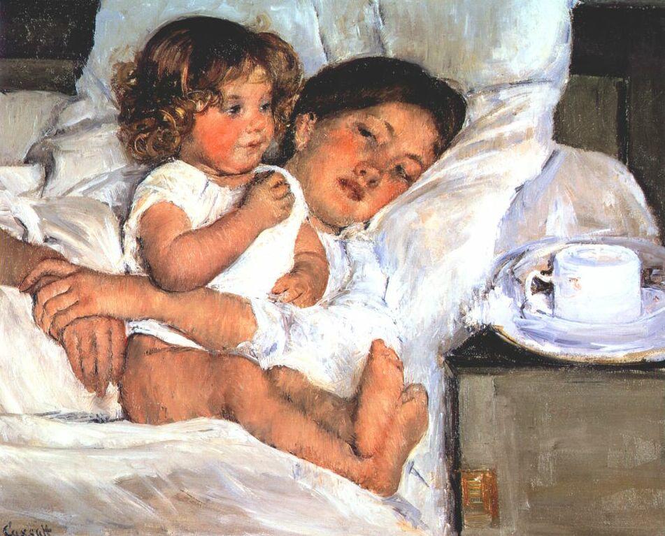 Mary Cassatt. Breakfast in bed