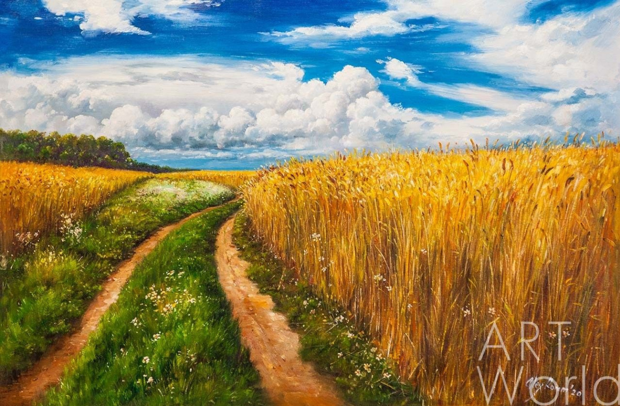Alexander Romm. Road in the rye