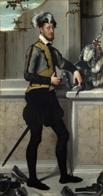Джованни Баттиста Морони. Рыцарь с его рыцарскими шлем