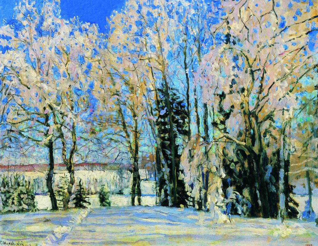 Stanislav Yulianovich Zhukovsky. Fresh snow