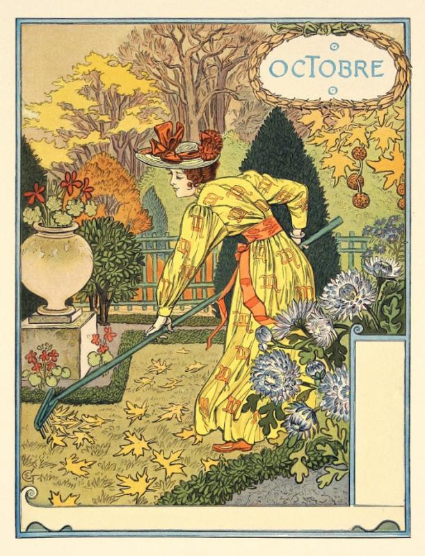 Eugene Grasse. October. Calendar