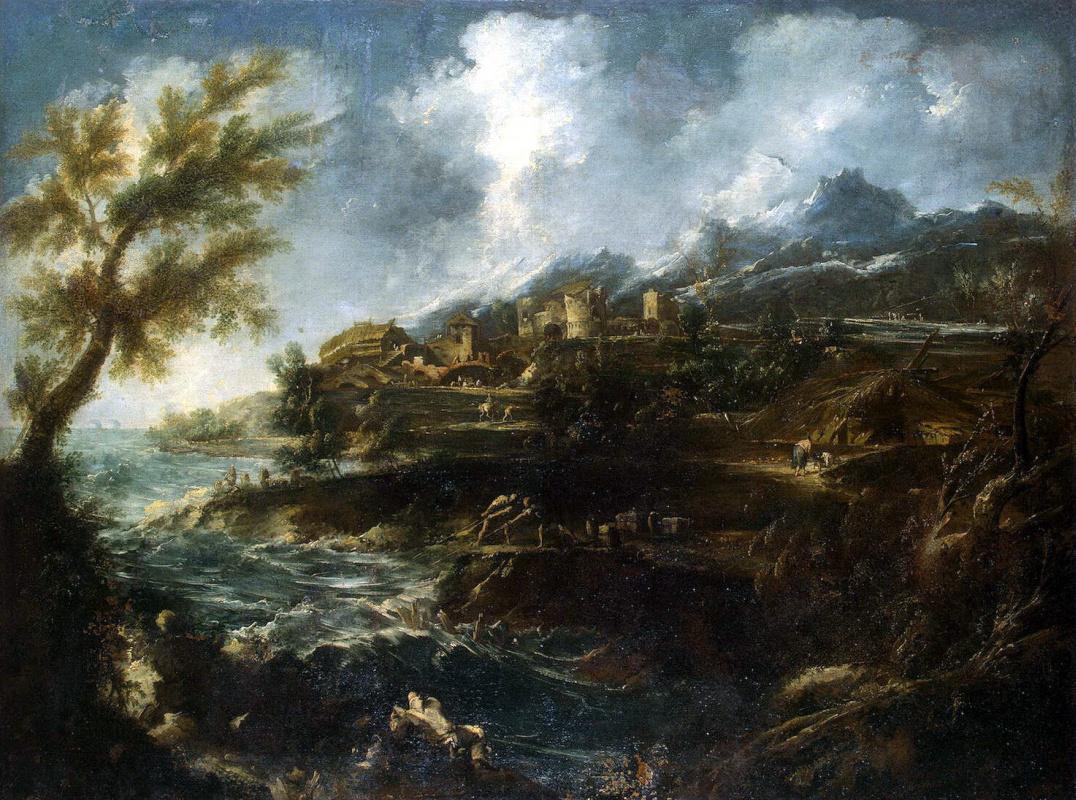 Антонио Франческо Маньяско. Морской берег