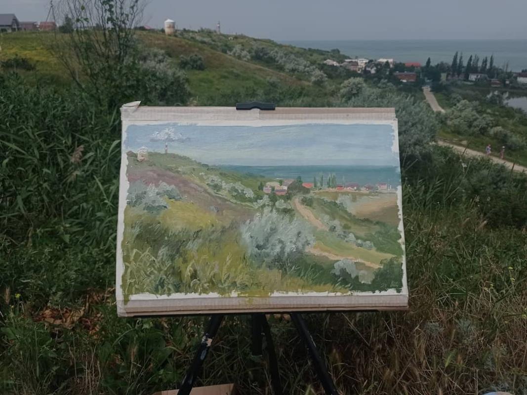 Christina Shchekina. Вид с горы на Азовское море