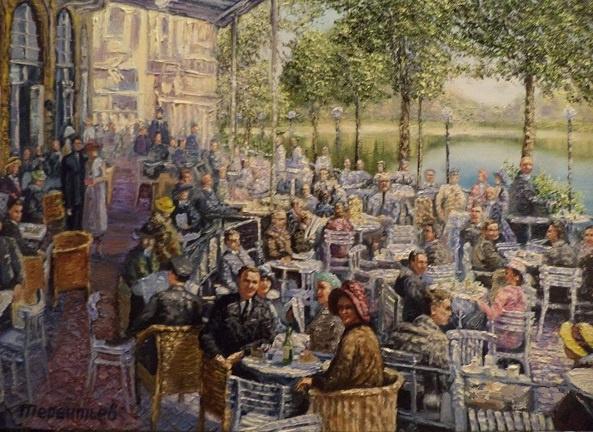 Evgeny Vladimirovich Terentyev. Koenigsberg. Visitors to the summer cafe