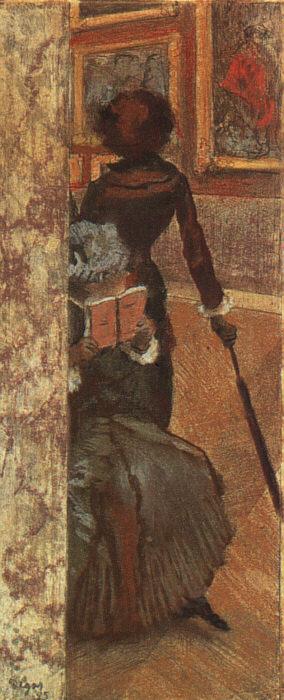 Эдгар Дега. Мэри Кассат и ее сестра в Лувре