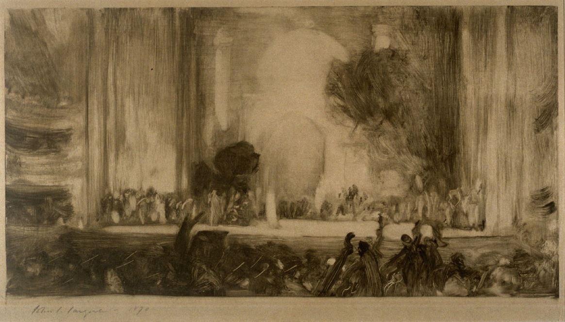 """John Singer Sargent. Dream Lohengrin (Richard Wagner's Opera """"Lohengrin"""")"""