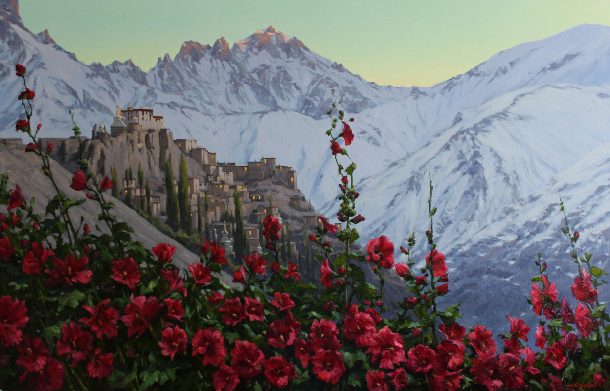 "Artem Yurievich Puchkov. ""Flowers Of Tibet"", The Monastery Of Lamayuru."
