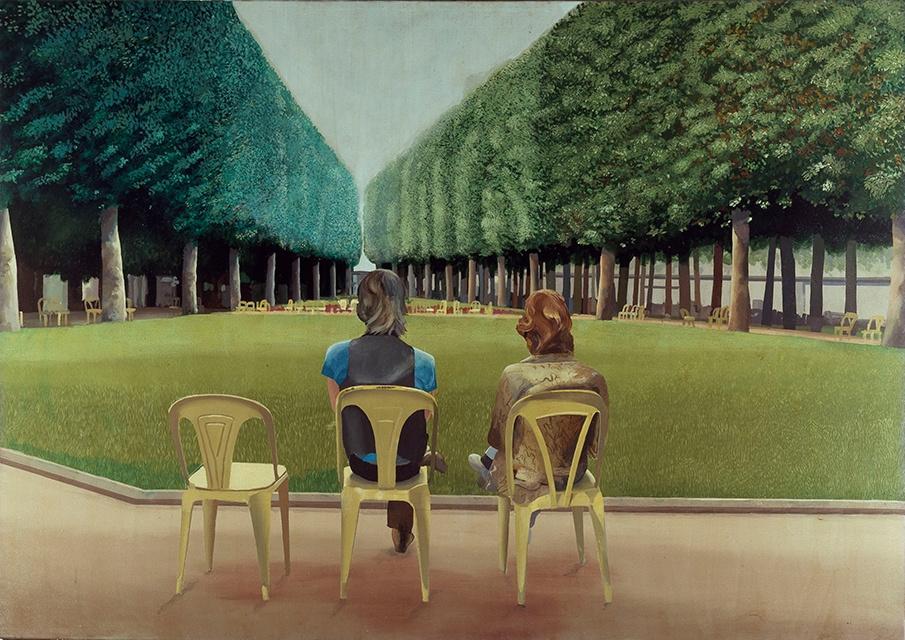 David Hockney. Park of Sources, Vichy