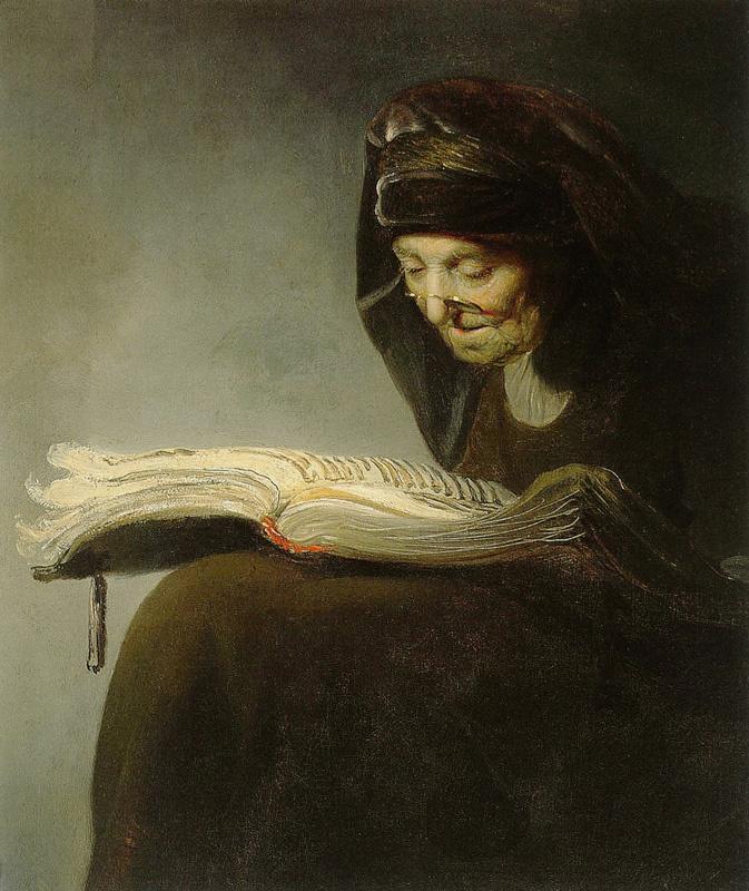 Ян Ливенс. Старуха за чтением