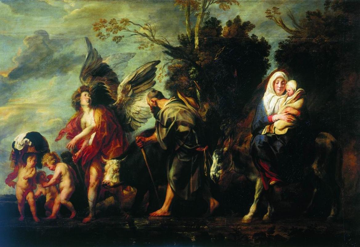 Jacob Jordaens. Escape to Egypt