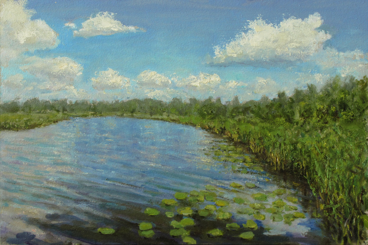 Andrew Lumez. Clouds over the river