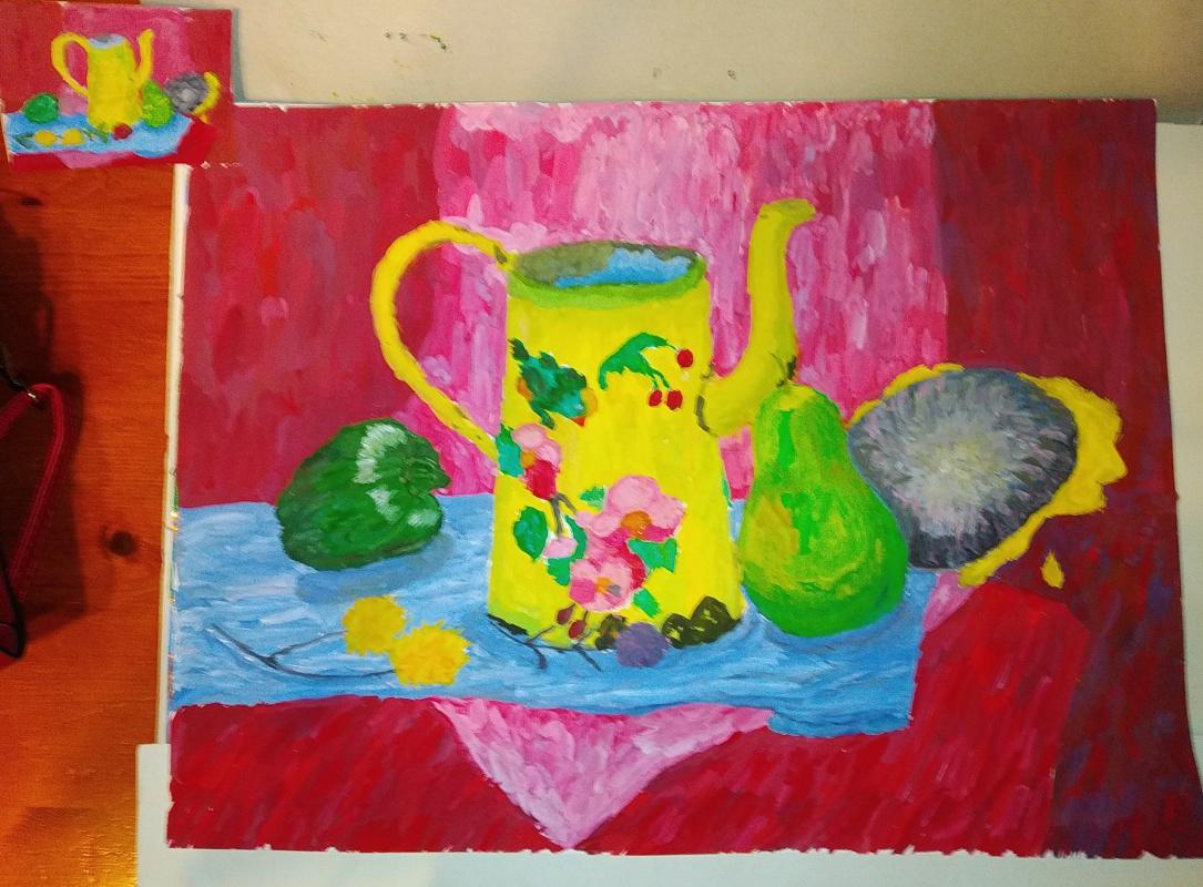 Zina Vladimirovna Parisva. Still life with a watering can