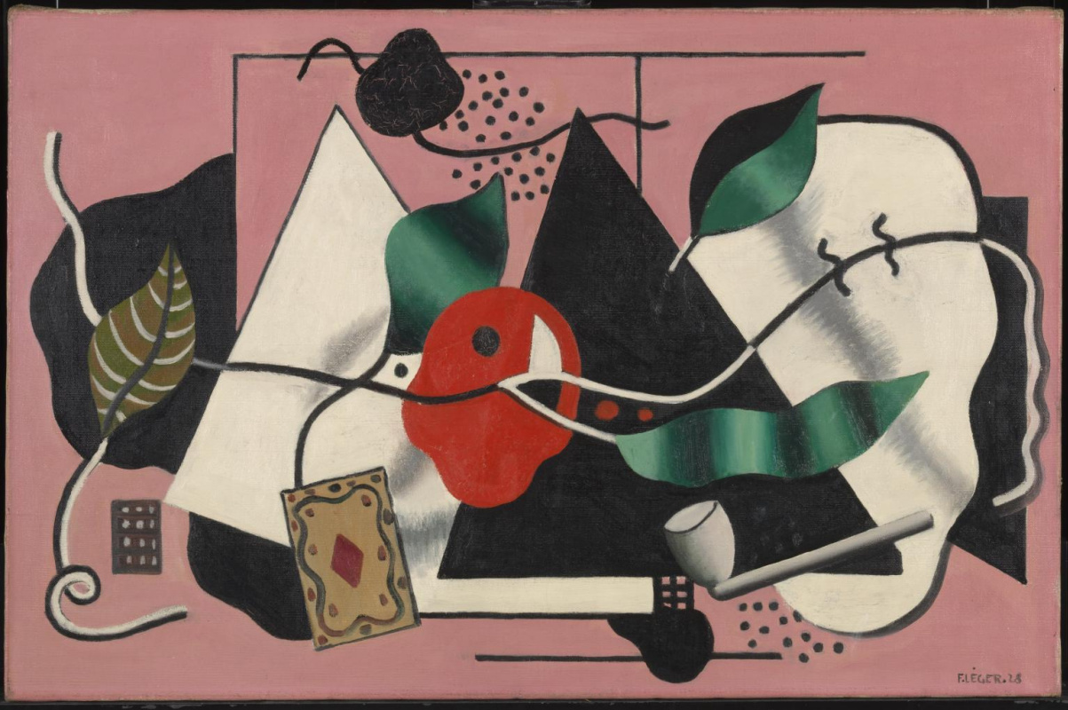 Fernand Leger. Playing cards and snorkel