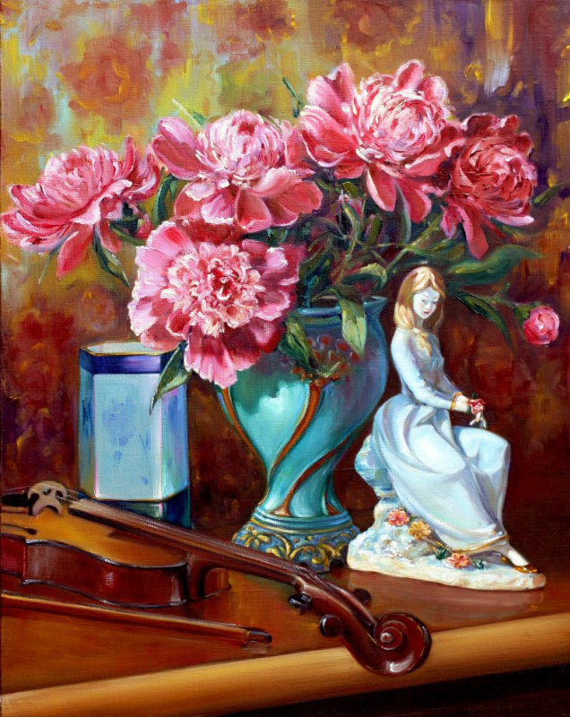 Роман Федорович Федосенко. Девочка с цветами