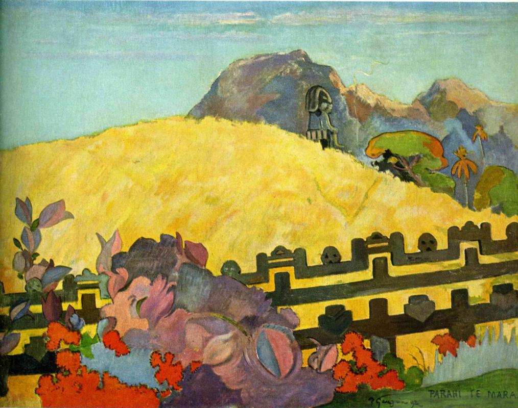 Paul Gauguin. Sacred mountain