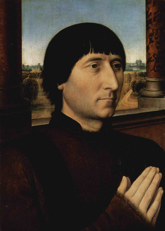 Hans Memling. Portrait of Willem Morel, mayor of Bruges, 1478 and 1483