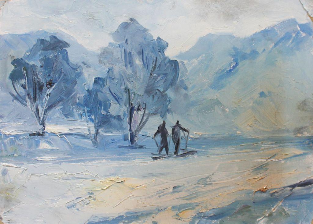 Alexander Georgievich Gulyaev. Winter landscape