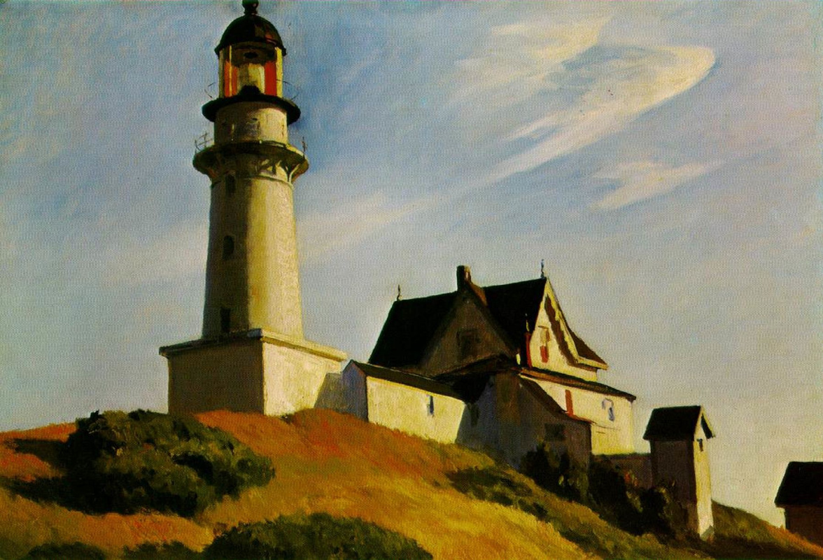 Edward Hopper. Two tiers of Windows lighthouse