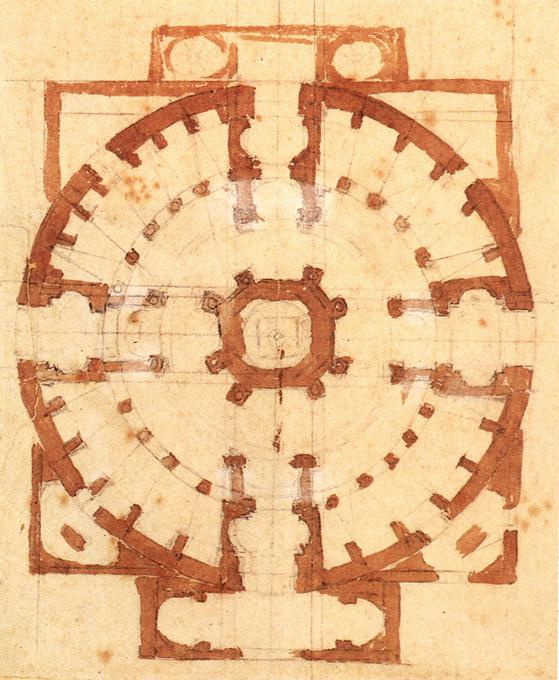 Микеланджело Буонарроти. План церкви
