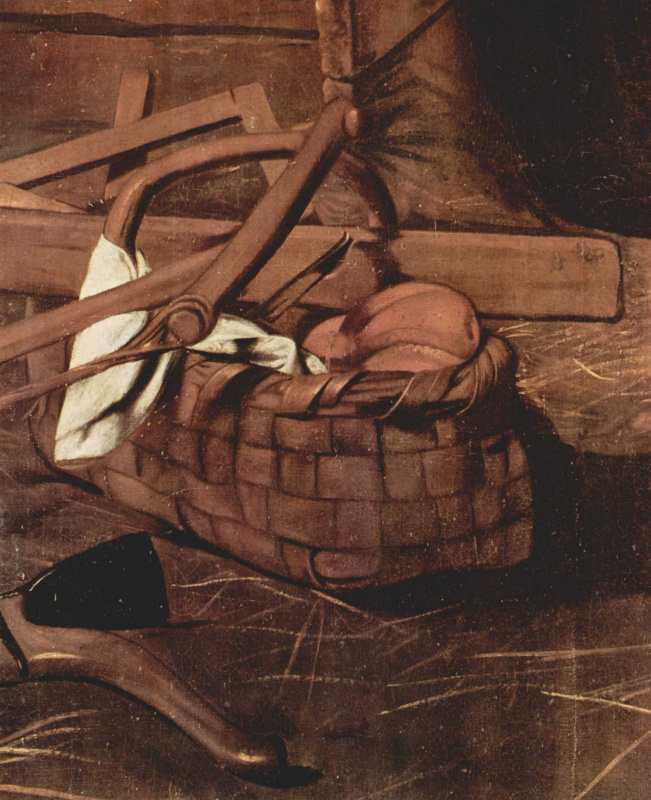 Michelangelo Merisi de Caravaggio. The adoration of the shepherds. Fragment