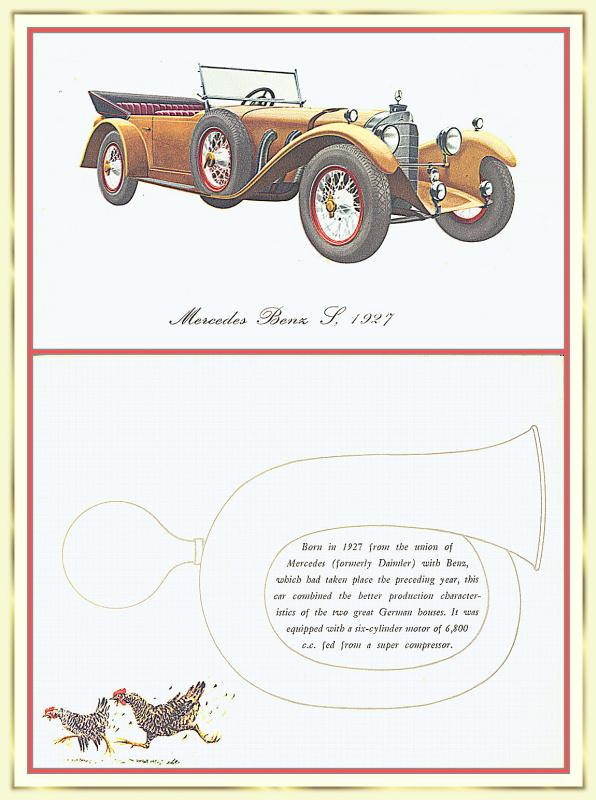 Лионель Моррис. Серия ретро-автомобили. 1927 Мерседес-Бенц