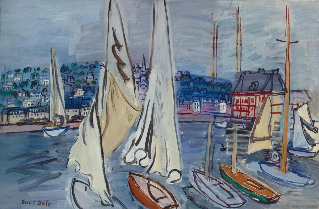 Raoul Dufy. Sailboats at Trouville