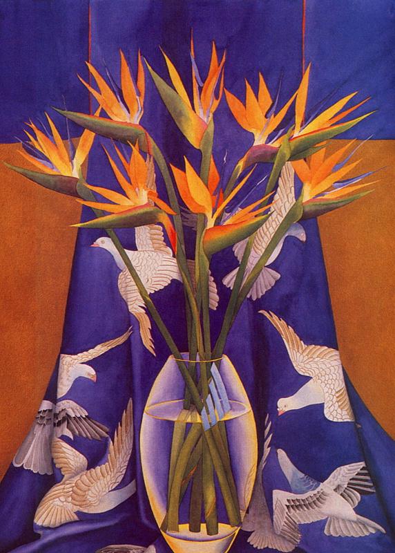 Р Болингброк. Цветы в стеклянной вазе