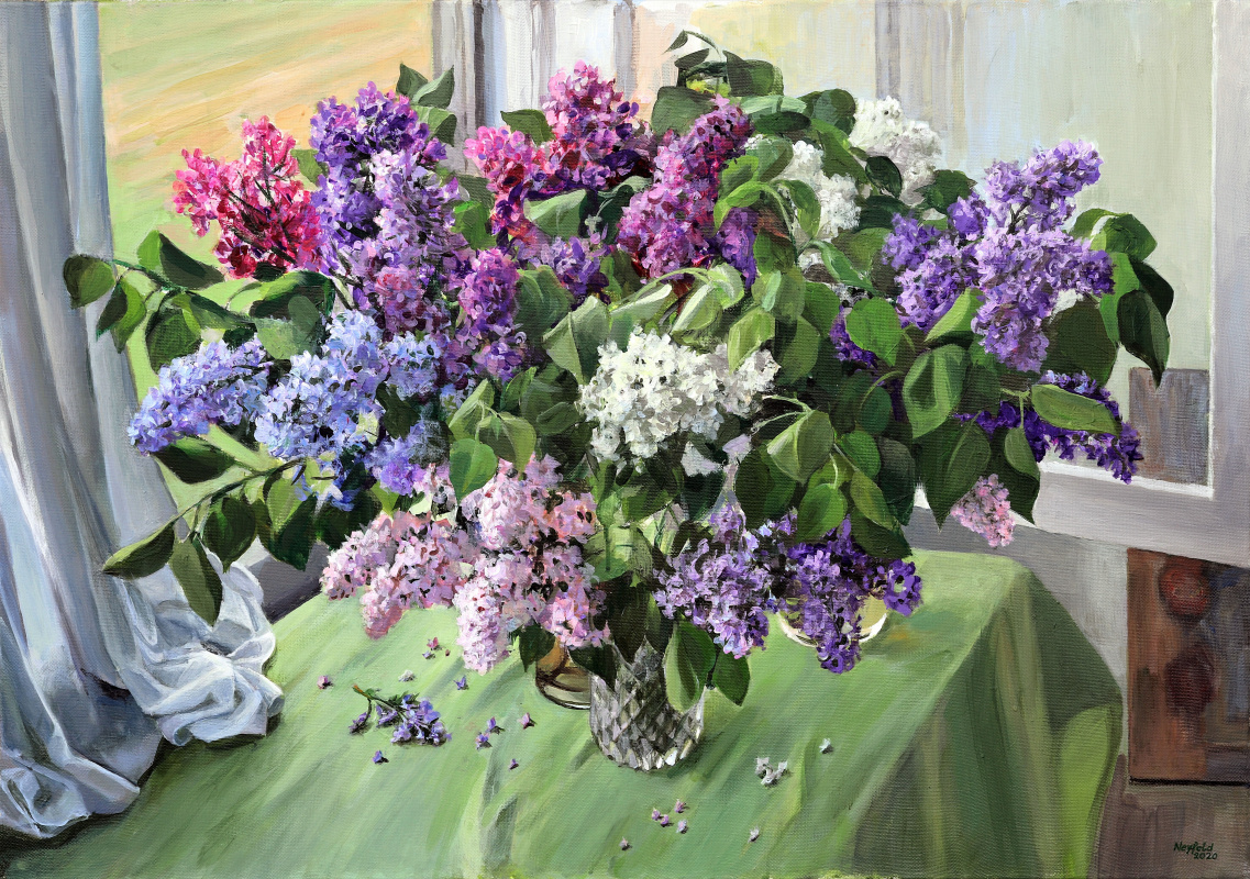 Michael Neufeld. Lilac by the window