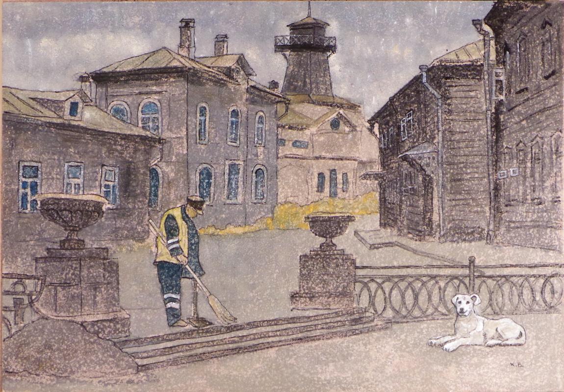 VALERIY VLADIMIROVICH KOMAROV. OLD MOSCOW.