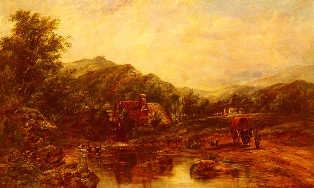 Frederick Watters Watts. Among the hills