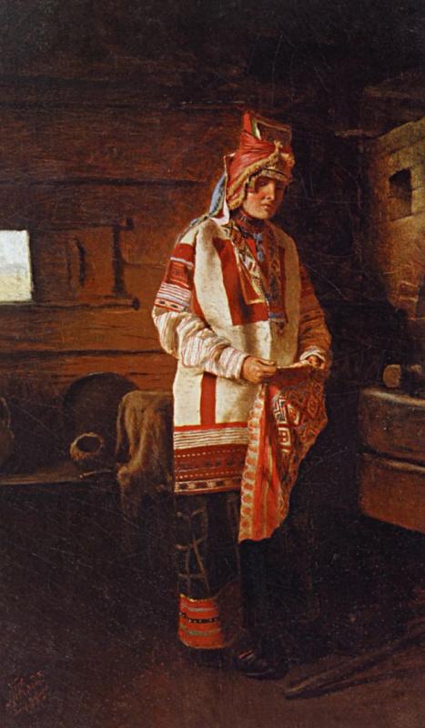 Михаил Петрович Клодт. Девушка мордовка