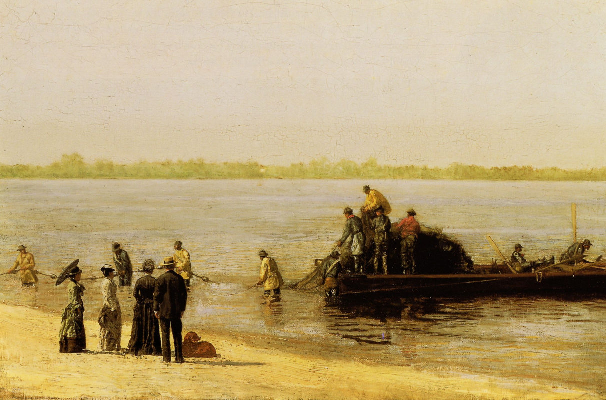 Thomas Eakins. Fishing at Gloucester on the Delaware river
