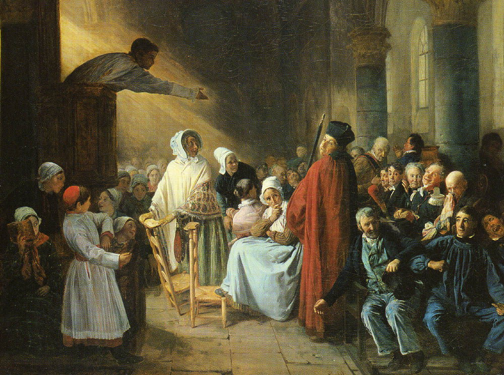 Франсуа Огюст Биард. Проповедь