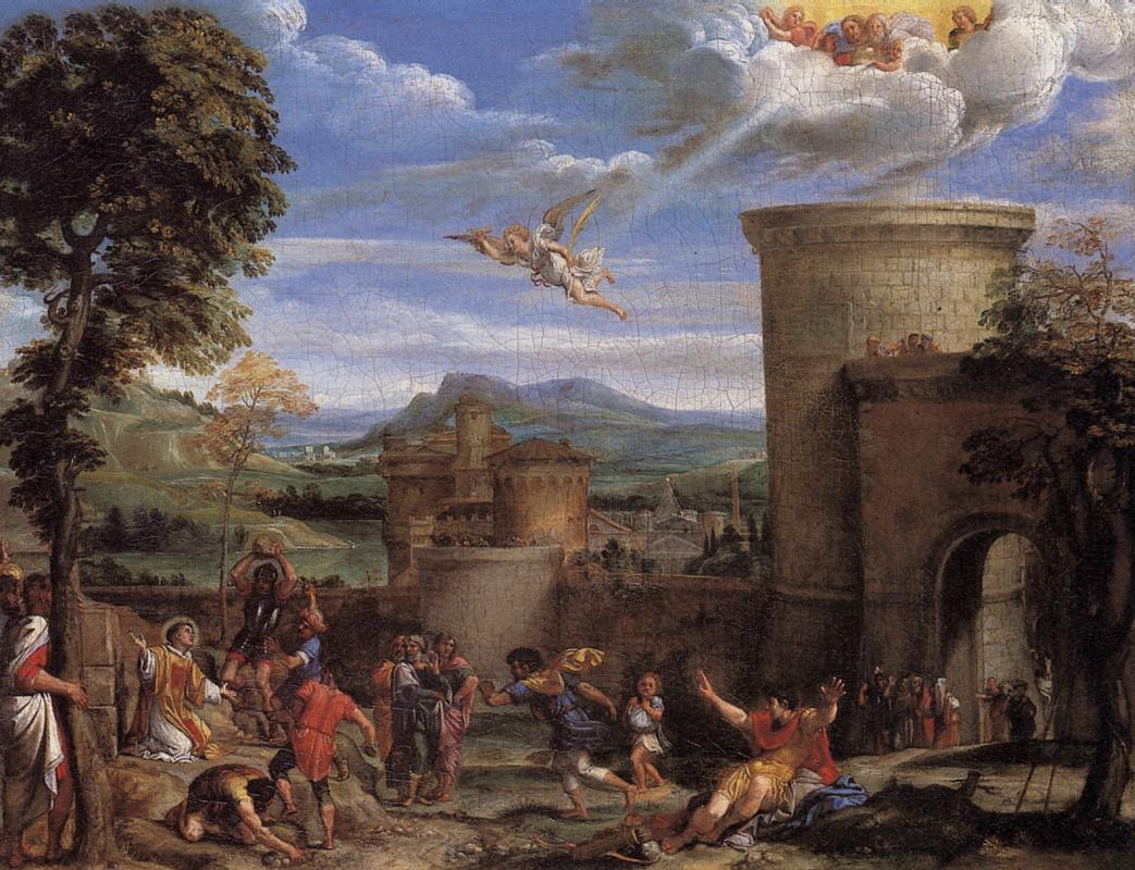 Аннибале Карраччи. Побиение камнями Святого Стефана